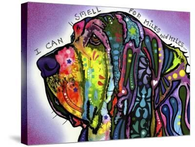 I Can Smell (Bloodhound)-Dean Russo-Stretched Canvas Print