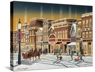 Hometown Christmas-Don Engler-Stretched Canvas Print