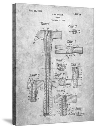 PP275-Slate Claw Hammer Patent Poster-Cole Borders-Stretched Canvas Print