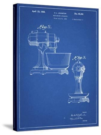 PP337-Blueprint KitchenAid Mixer Patent Poster-Cole Borders-Stretched Canvas Print