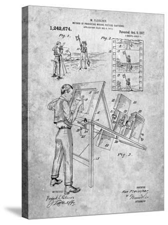 PP293-Slate Cartoon Method Patent Poster-Cole Borders-Stretched Canvas Print