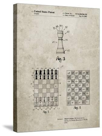 PP286-Sandstone Speed Chess Game Patent Poster-Cole Borders-Stretched Canvas Print