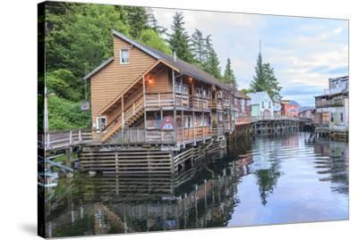 Creek Street, tourist walk, Ketchikan, Alaska, Inside Passage-Stuart Westmorland-Stretched Canvas Print