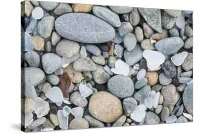 USA, California, Ft. Bragg, Close-up of Glass Beach Pebbles-Rob Tilley-Stretched Canvas Print