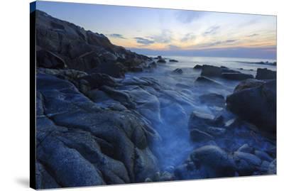 Dawn on Appledore Island, Maine. Isles of Shoals.-John & Lisa Merrill-Stretched Canvas Print