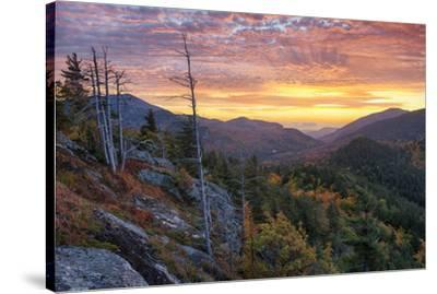 USA, New York State. Sunrise on Mount Baxter in autumn, Adirondack Mountains.-Chris Murray-Stretched Canvas Print