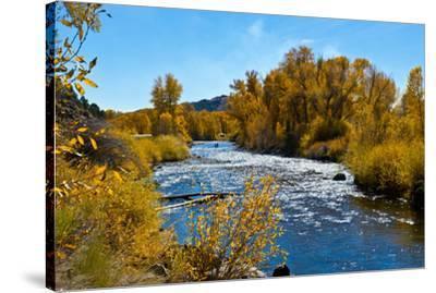 USA, New Mexico, Fall along Rio Chama River.-Bernard Friel-Stretched Canvas Print