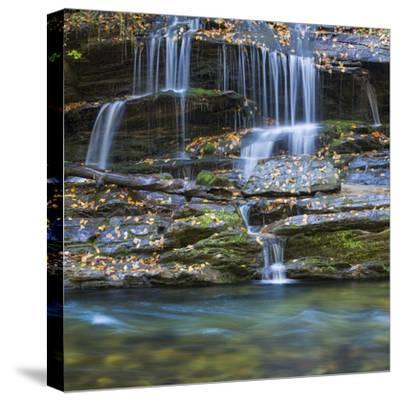 USA, North Carolina, Great Smoky Mountains. Scenic of Tom Branch Falls.-Jaynes Gallery-Stretched Canvas Print