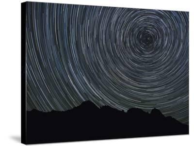 Washington State, Alpine Lakes Wilderness, Ingalls Pass, Star trails around Polaris-John & Lisa Merrill-Stretched Canvas Print