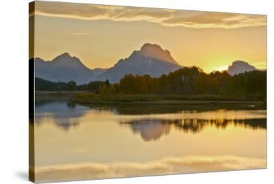 Alpenglow At Sunset, Oxbow, Grand Teton National Park, Wyoming, USA-Michel Hersen-Stretched Canvas Print