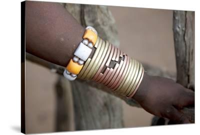 Africa, Ethiopia, South Omo, Hamer tribe. Bracelet detail worn my a Hamer woman.-Ellen Goff-Stretched Canvas Print