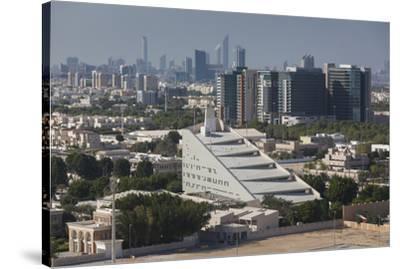 UAE, Abu Dhabi. Al Safarat Embassy Area-Walter Bibikow-Stretched Canvas Print