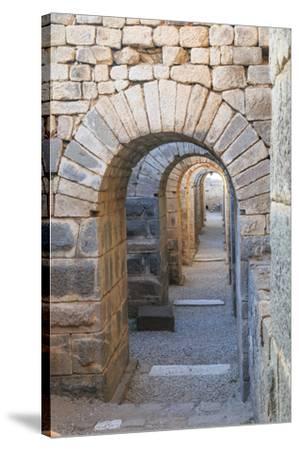 Turkey, Izmir, Bergama, Pergamon. Arches of the sanctuary of Trajan.-Emily Wilson-Stretched Canvas Print