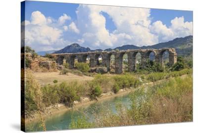 Turkey, Anatolia, Antalya, Aspendos Aqueduct over River Eurmedon.-Emily Wilson-Stretched Canvas Print