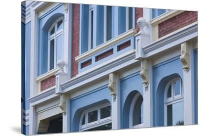 New Zealand, North Island, Whanganui. Building detail-Walter Bibikow-Stretched Canvas Print