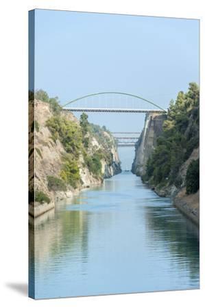 Corinth Canal, Greece, Europe-Jim Engelbrecht-Stretched Canvas Print