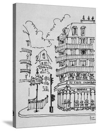 Famous Au Vieux Colombier on Boulevard Raspail, Paris, France-Richard Lawrence-Stretched Canvas Print