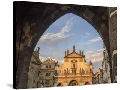 Czech Republic, Prague. St. Salvator Church near the Charles bridge at dusk.-Julie Eggers-Stretched Canvas Print