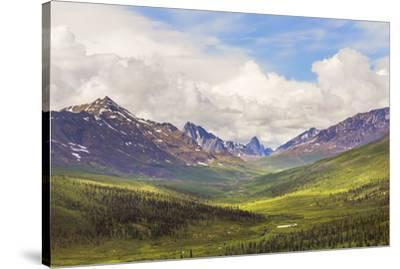 Canada, Yukon. Landscape of Tombstone Range and North Klondike River.-Jaynes Gallery-Stretched Canvas Print