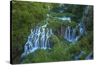 Croatia, Plitvice Lakes National Park. Waterfall landscape.-Jaynes Gallery-Stretched Canvas Print