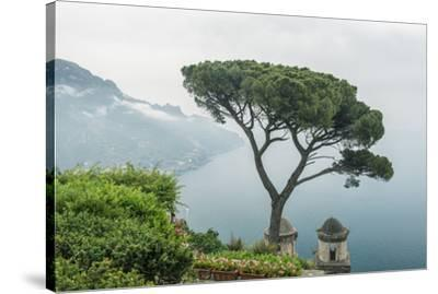 Italy, Amalfi Coast, Ravello, view of Coastline from Villa Rufolo-Rob Tilley-Stretched Canvas Print