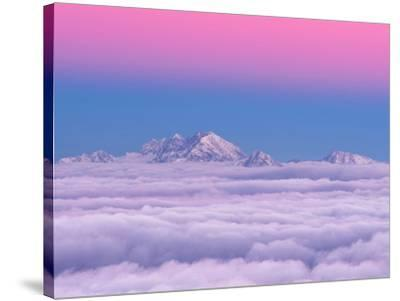 Pink in the Sky-Ales Krivec-Stretched Canvas Print