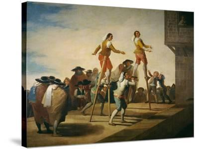 Stilts, 1791-1792-Francisco de Goya y Lucientes-Stretched Canvas Print