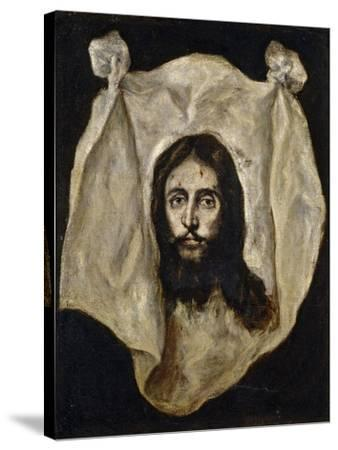 El Greco / The Holy Visage, 1586-1595--Stretched Canvas Print