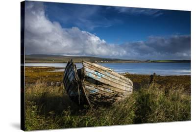 An abandoned boat on the island of Hoy.-Jim Richardson-Stretched Canvas Print