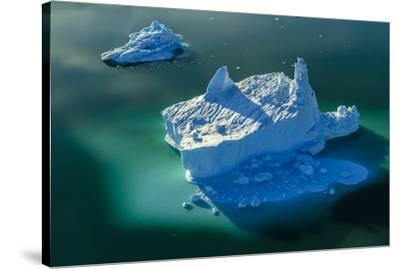 Aerial of icebergs in Sermilik Fjord.-Ralph Lee Hopkins-Stretched Canvas Print