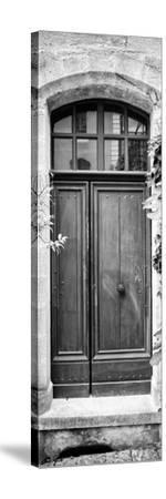France Provence Panoramic Collection - Black Door B&W-Philippe Hugonnard-Stretched Canvas Print