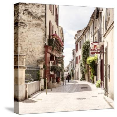 France Provence Square Collection - Wonderful Frrench Provence - Uzès-Philippe Hugonnard-Stretched Canvas Print