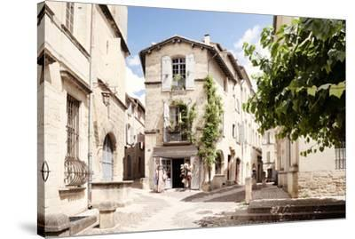 France Provence Collection - Provencal Street - Uzès-Philippe Hugonnard-Stretched Canvas Print
