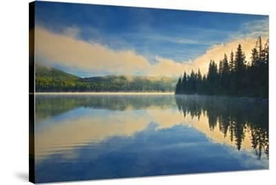 Canada, Alberta, Jasper National Park. Pyramid Lake at sunrise.-Jaynes Gallery-Stretched Canvas Print
