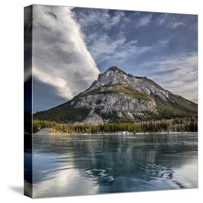 Canada, Alberta, Bow Valley Provincial Park, Mount Baldy and frozen Barrier Lake-Ann Collins-Stretched Canvas Print