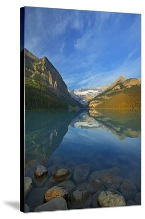 Canada, Alberta, Banff National Park. Lake Louise and Canadian Rocky Mountains.-Jaynes Gallery-Stretched Canvas Print