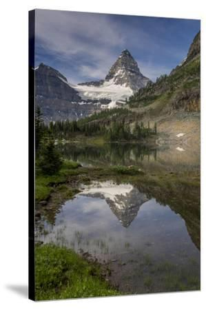 Mount Assiniboine reflection, Canada-Howie Garber-Stretched Canvas Print