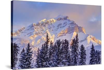Mt. Cory from the town of Banff, Canadian Rockies, Alberta, Canada-Stuart Westmorland-Stretched Canvas Print