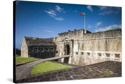 St. Kitts and Nevis, St. Kitts. Brimstone Hill Fortress-Walter Bibikow-Stretched Canvas Print