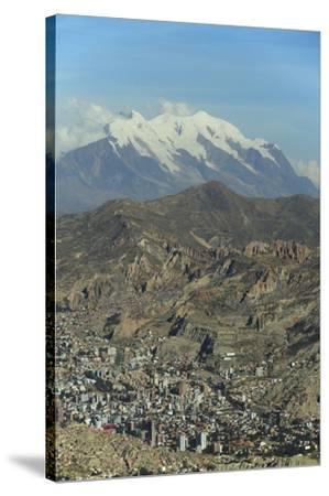 La Paz, Bolivia. Cityscape from El Alto viewpoint in La Paz, Bolivia.-Anthony Asael-Stretched Canvas Print
