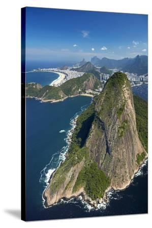Sugarloaf Mountain (Pao de Acucar), and Copacabana Beach, Rio de Janeiro, Brazil-David Wall-Stretched Canvas Print
