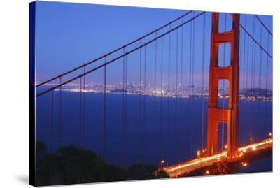Golden Gate Bridge at Night, San Francisco, California-Anna Miller-Stretched Canvas Print