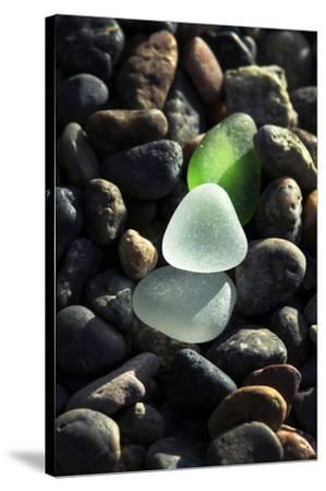 USA, California, La Jolla. Sea glass on cobblestone beach.-Jaynes Gallery-Stretched Canvas Print
