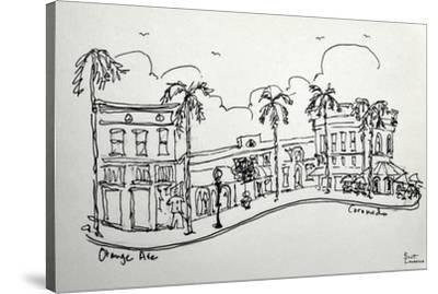 Orange Ave. in Coronado California. A wonderful shopping street, just a block from the beach.-Richard Lawrence-Stretched Canvas Print