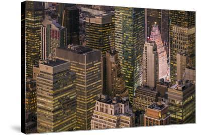USA, New York City, elevated view of Midtown Manhattan-Walter Bibikow-Stretched Canvas Print