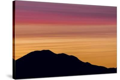 USA, Washington State, Seabeck. Sunset over Mount Walker.-Jaynes Gallery-Stretched Canvas Print