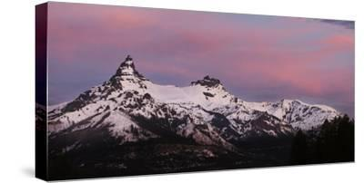 USA, Wyoming. Sunrise above the Absaroka Range.-Jaynes Gallery-Stretched Canvas Print