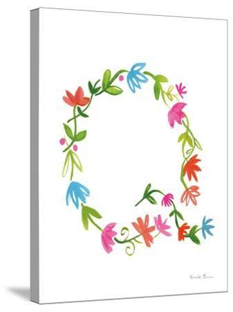 Floral Alphabet Letter XVII-Farida Zaman-Stretched Canvas Print