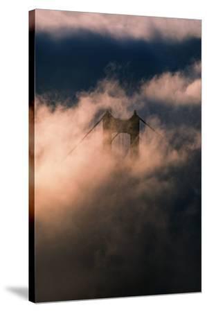 Fog Swarm at North Tower Golden Gate Bridge Mist Mood & Light-Vincent James-Stretched Canvas Print