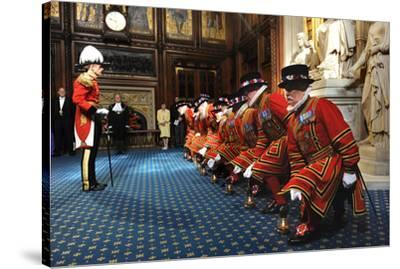 Ceremonial search of Parliament by Yeomen of the Guard-Associated Newspapers-Stretched Canvas Print